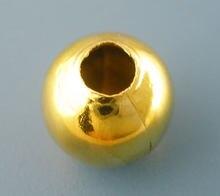 Os espaçadores lisos da bola da cor do ouro de doreenbeads 50 pces grânulos diâmetro de 10mm. (B03085), yiwu