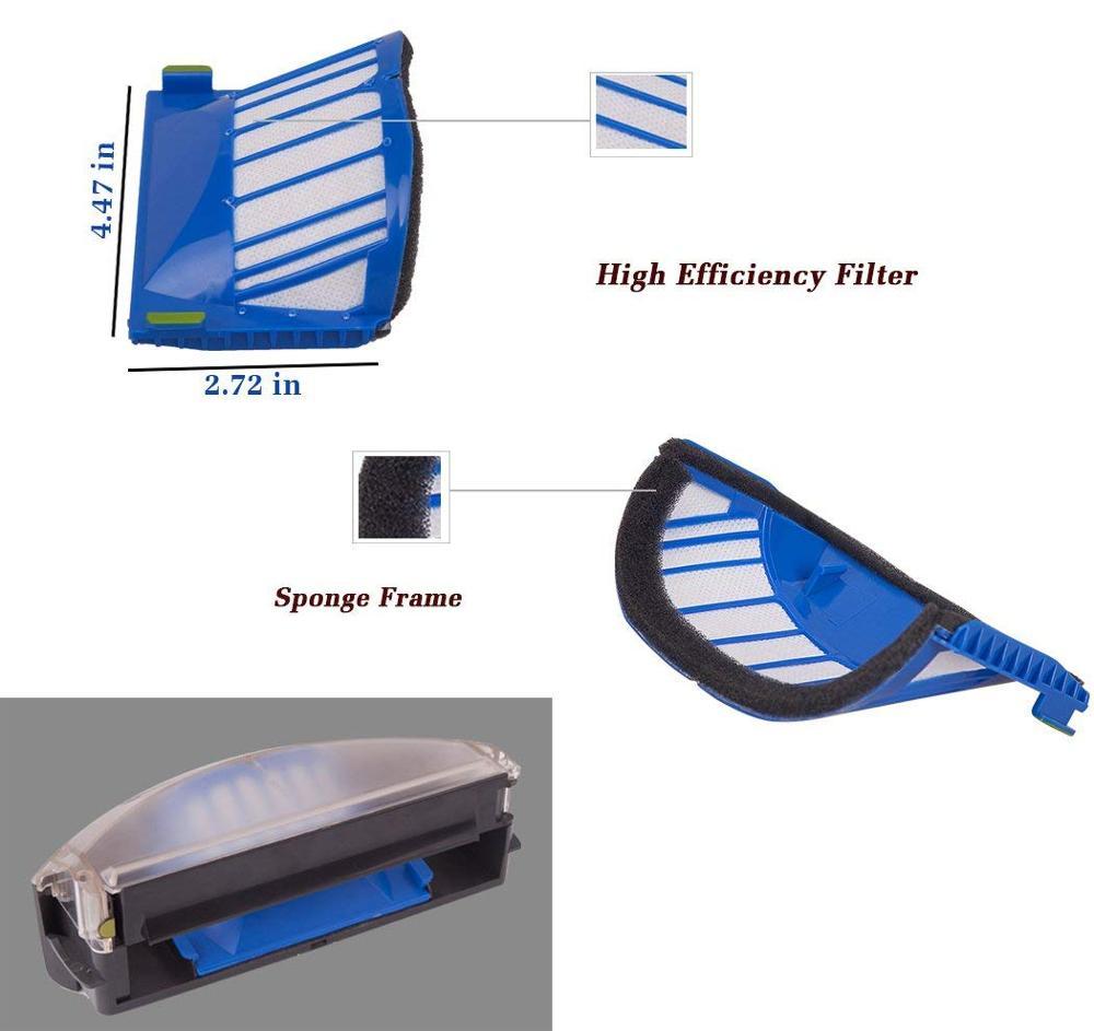 Replacement Part Kit For IRobot Roomba 600 610 620 625 630 650 660 Series Vacuum Beater Bristle Brush+Aero Vac Filter+side Brush