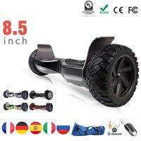 Eu 8.5 Inch All Terrain Off Road Scooter Oxboard Hoverboard Electric Scooter Electric Skateboard Bluetooth Tas Remote Control
