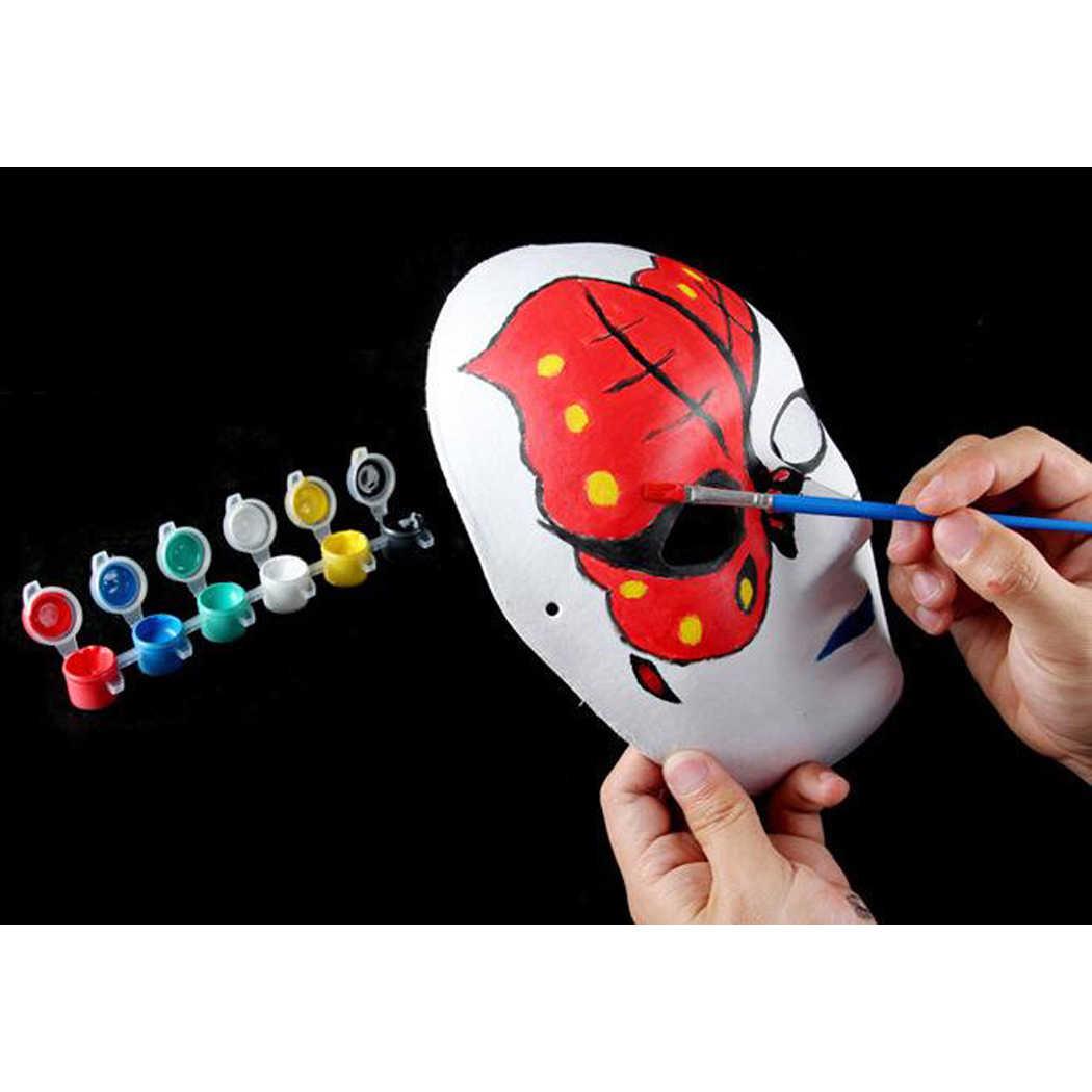 Diy Beyaz Kagit Maske Hamuru Bos El Boyali Maskeleri Anaokulu