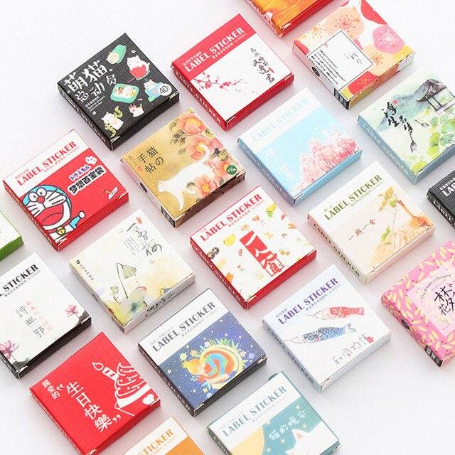 40 יח'\קופסא חמוד מדבקות Kawaii חתולים מדבקות קריקטורה תווית מדבקות לילדים רעיונות DIY יומן אלבום תמונות קלאסי צעצועים