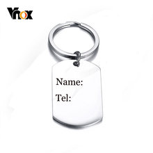 Vnox Men's Key Chain Free Customized Name Contact Info Never Fade Stainless Steel Gifts for Dad from Daddy's Girl or Boy(China)
