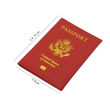Travel PU Leather Passport Cover Personalised Women Pink USA Passport Holder American Covers for passport Girls pouch Passport