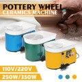 3 colores 110 V/220 V máquina formadora de cerámica 250 W/350 W rueda de cerámica eléctrica arcilla DIY herramienta con bandeja para cerámica