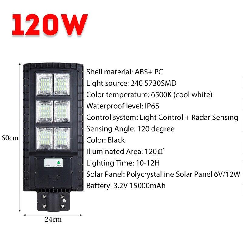 Fumxi 120 W lampe solaire lampadaire applique extérieure contrôle de la lumière + PIR capteur de mouvement jardin applique murale noir/gris Shell