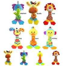 Fashion Children Plush Toys Colorful Animal Shape Lovely Appease Dolls Rattles Grasping Toy For 0-3 Years Baby Kids Gift YJS Dro