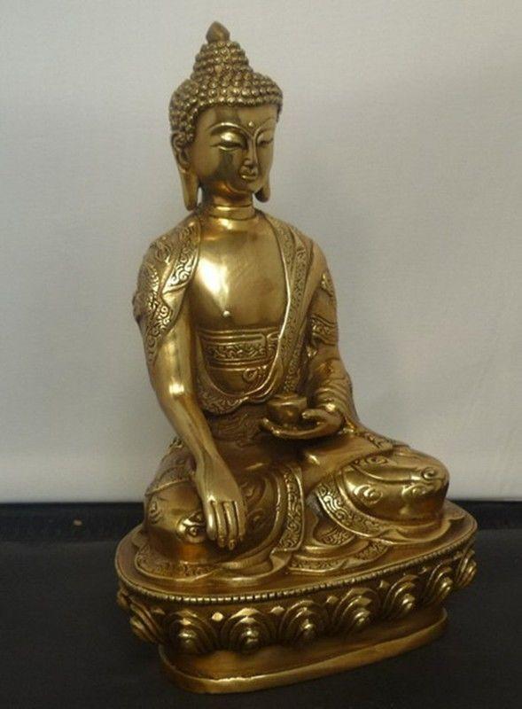 التبت التبت Buddhis شاكياموني البرونزية بوذا تمثال-في التماثيل والمنحوتات من المنزل والحديقة على  مجموعة 2