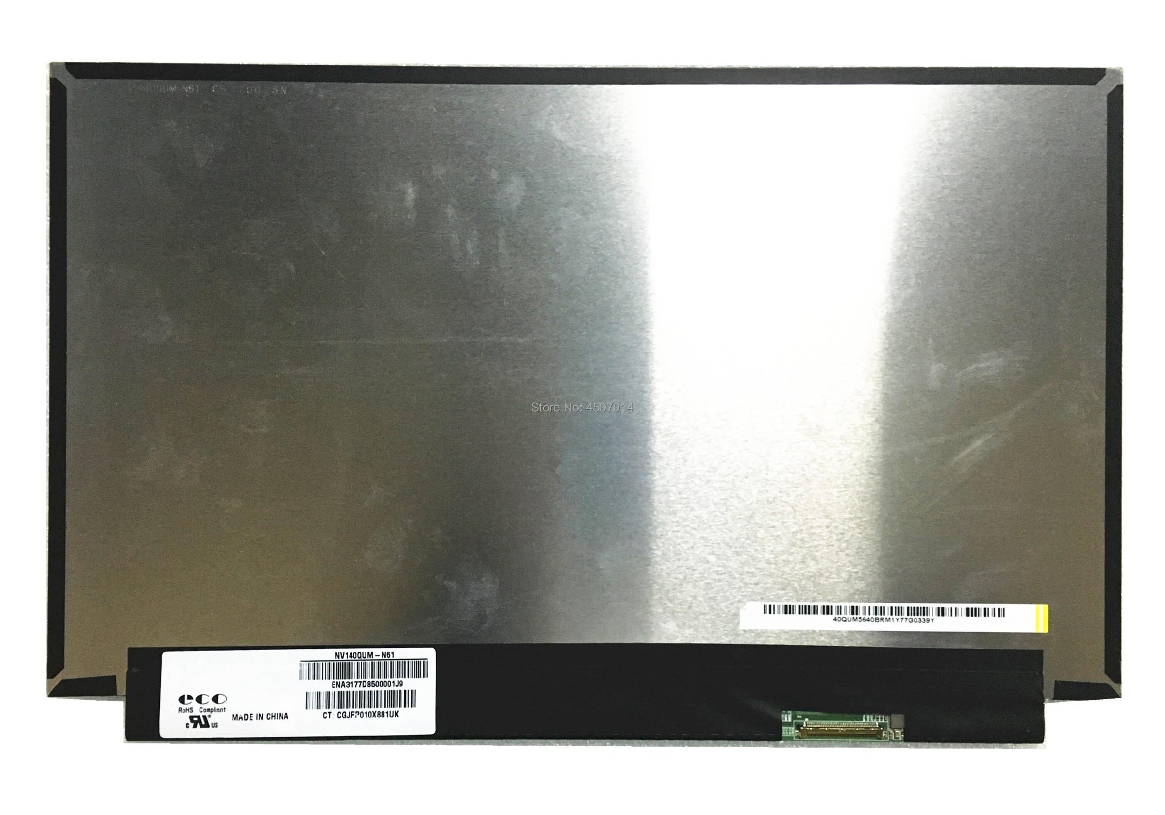 Free Shipping 14 0 inch NV140QUM N61 NV140QUM N61 Laptop Lcd Screen 3840 2160 Laptop Lcd