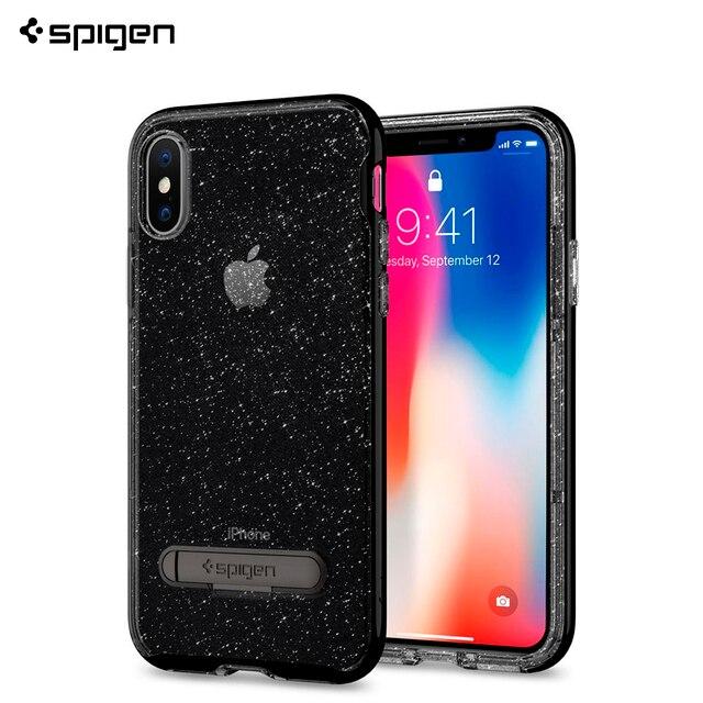 Защитный чехол Spigen для iPhone X Crystal Hybrid Glitter цвет черный /057CS22148/100/50