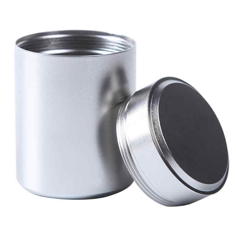80 ミリリットル多機能中国風の茶キャディーラウンド金属茶箱と蓋茶瓶ミニ収納ボックスキャディーコーヒー粉末缶