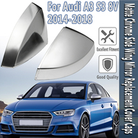 A3 8V S3 Side Wing Mirror Cover Shell Caps fit for Audi A3 S3 Silver Aluminium Mirror Matte Chrome 2015 2016 2018 Replacement