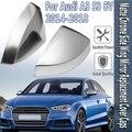 A3 8V S3 боковое зеркало с крылом крышки корпуса крышки подходят для Audi A3 S3 серебряное алюминиевое зеркало матовый хром 2015 2016 2018 Замена