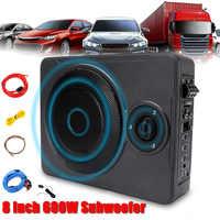 Neue Universal 8 Zoll 600W bluetooth Auto Ultra-Dünne Audio Aktive Subwoofer Auto Unter Sitz Sub Verstärker Auto audio Lautsprecher System
