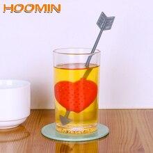 HOOMIN Arrow Through Heart Shape Tea Infuser Herbal Filter D