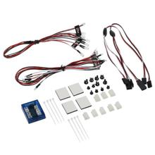 1 Set 12 LED Lighting System Kit Simulation Flash Lights For 1/10 RC Car Truck 6 White 4 Orange 2 Red LED Lights