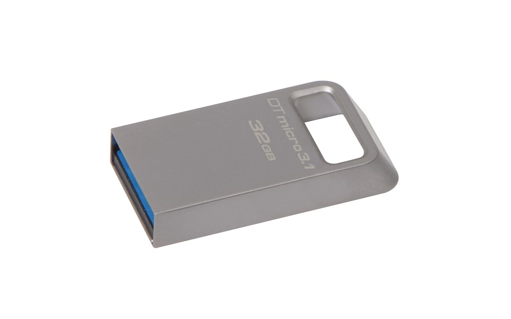 <font><b>Kingston</b></font> Technologie DataTraveler Micro 3,1 32 GB, 32 GB, 3,0 (3,1 Gen 1), <font><b>USB</b></font> Typ-A stecker, Capless, Metallic image