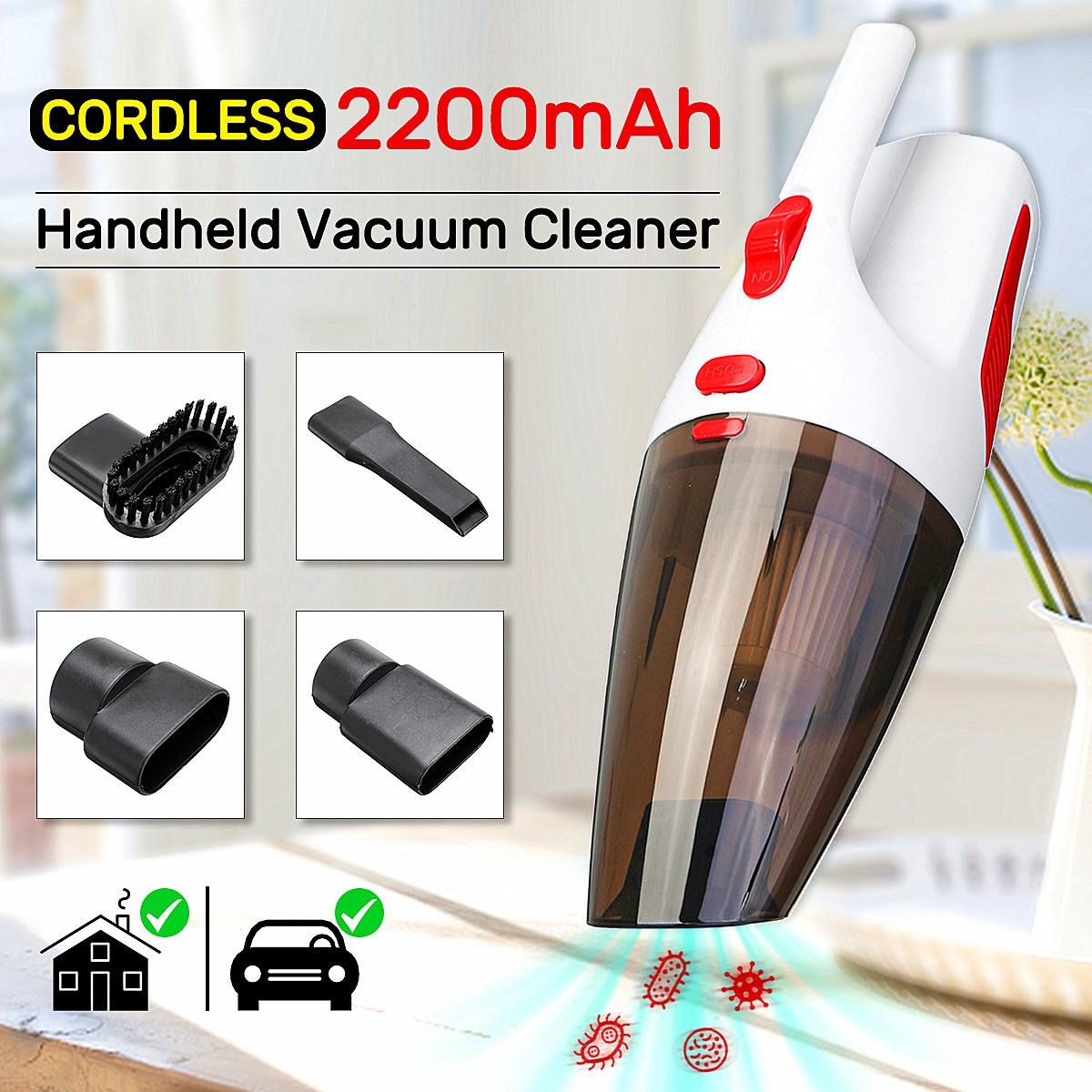 Portable Ac Vacuum 27 Lb Portable Countertop Ice Maker In Stainless Steel Portable Tool Box Steel Portable Light Table: 120W 100V 240V AC 5000PA Portable Cordless Handheld