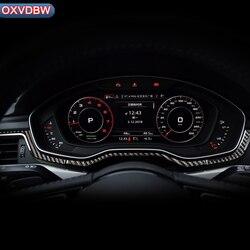 Interni Pannello di controllo Centrale Strumento console Strisce di Decorazione adesivi Per Auto in fibra di carbonio per Audi a4 b9 LHD RHD Accessori