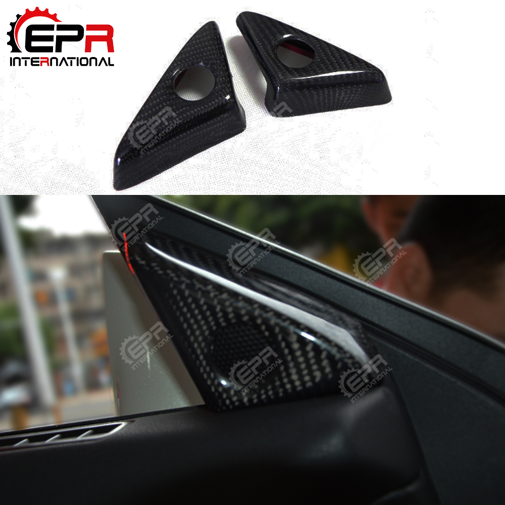 For Nissan R35 GTR 08-16 Carbon Fiber Door Mirror Inner Panel Trinagle Interior Door Speaker Cover For Skyline R35 GTR TuningFor Nissan R35 GTR 08-16 Carbon Fiber Door Mirror Inner Panel Trinagle Interior Door Speaker Cover For Skyline R35 GTR Tuning