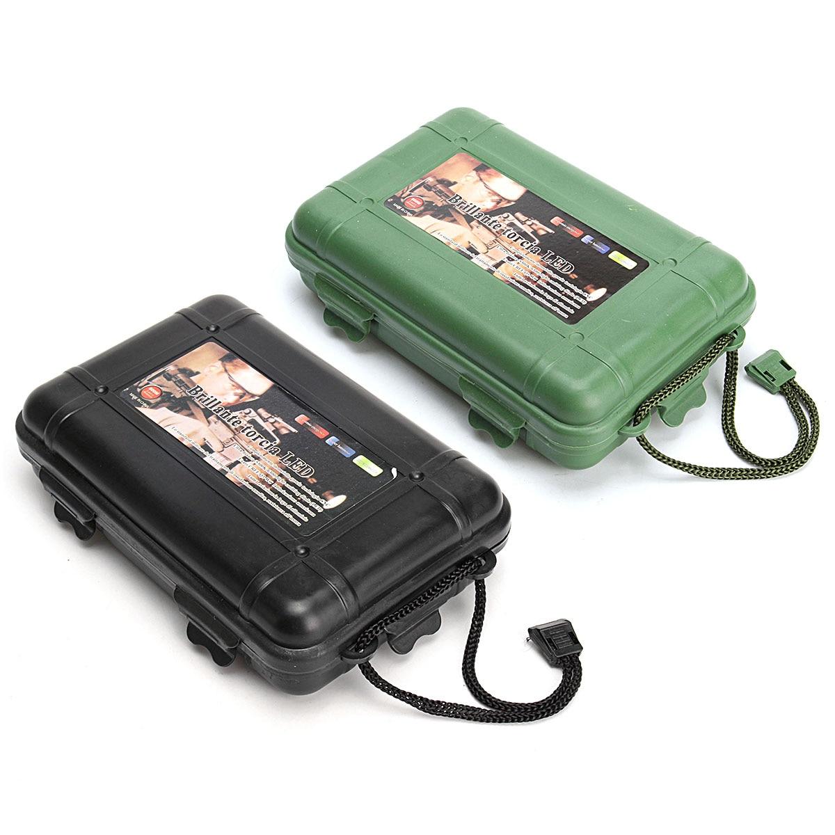 Green/Black Plastic Flashlight Tools Storage Case Box  170x110x45mm