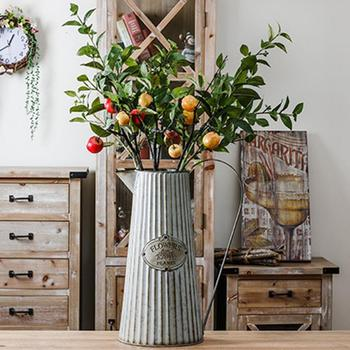 Jardinage Rétro Pot De Fleur Conteneur Faux Fleur Organiser Jardinage Fer Seau Pot De Fleurs Boutique Décoration