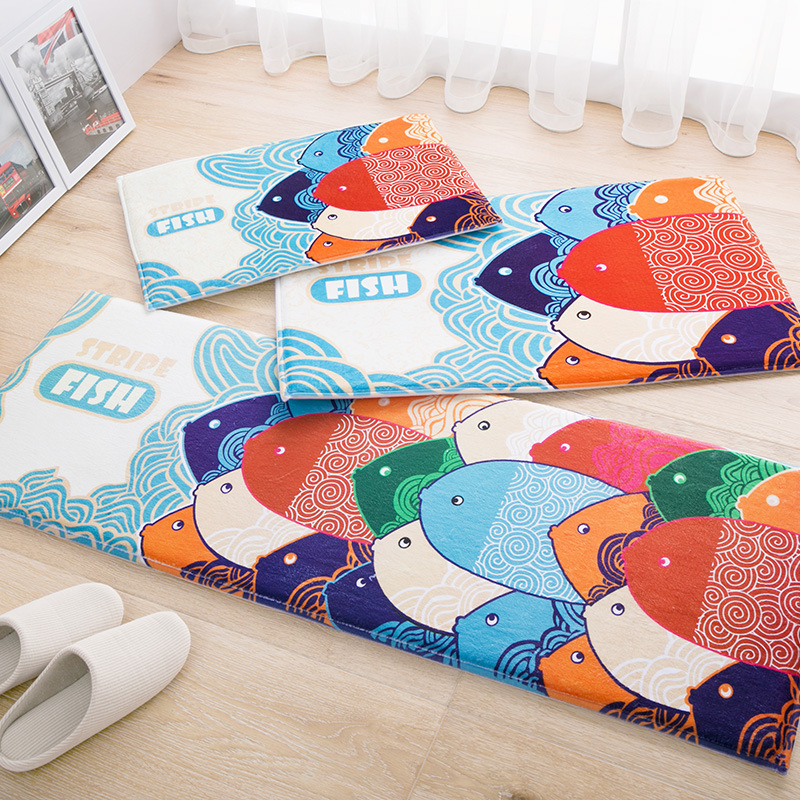 Cartoon Fish Doormat Home Decor Bedroom Carpet Floor Mat