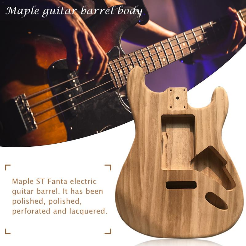 wood type electric guitar accessories st electric guitar barrel material maple guitar barrel. Black Bedroom Furniture Sets. Home Design Ideas