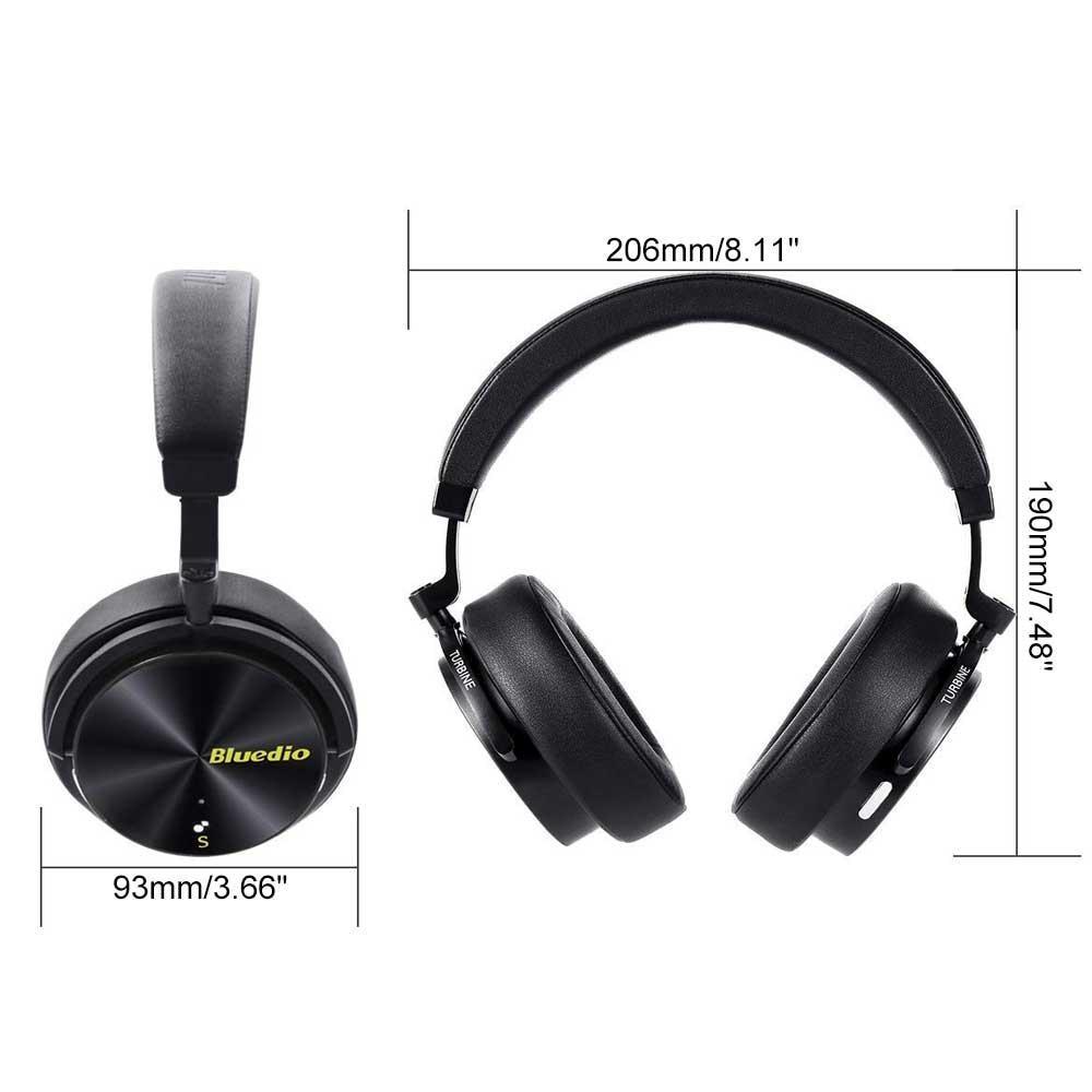 Nouveau casque de mode Bluedio réduction de bruit Active casque de sport sans fil Bluetooth casques stéréo portables basse avec micro - 3