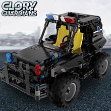 цена на 336 pcs Building Block model Remote control Car toys DIY Assemble Blocks Bricks RC robot car Remote control Armed patrol car