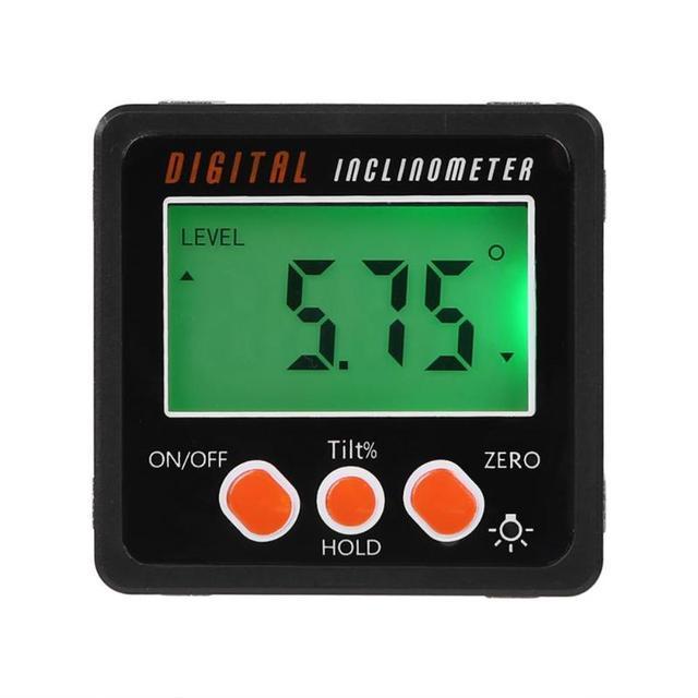 Big Sale Digital Protractor Inclinometer Level Box Waterproof Angle Finder Gauge Measure Bevel Box With Magnet 90 degrees Gauge Ruler