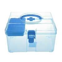 Caja de primeros auxilios de la familia Kits de emergencia caja de tratamiento de heridas médicas portátil pastillas vendas caja de almacenamiento para viaje en el hogar