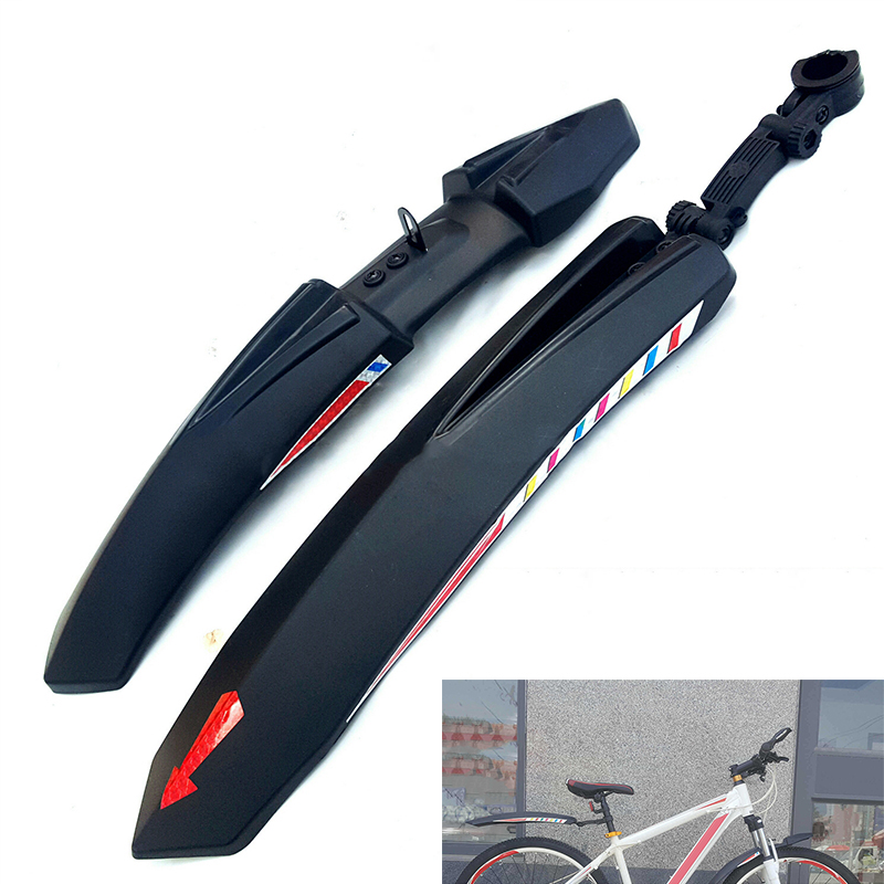 2Pcs Set Cycling Bicycle Front Rear Mudguard For Road Bike Mountain MTB Fenders Lightweight Plastic