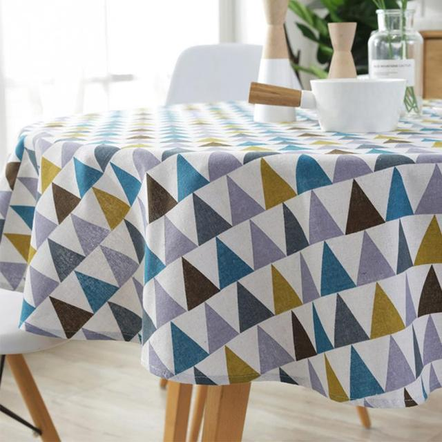 Oilproof Handmade Round Tablecloth