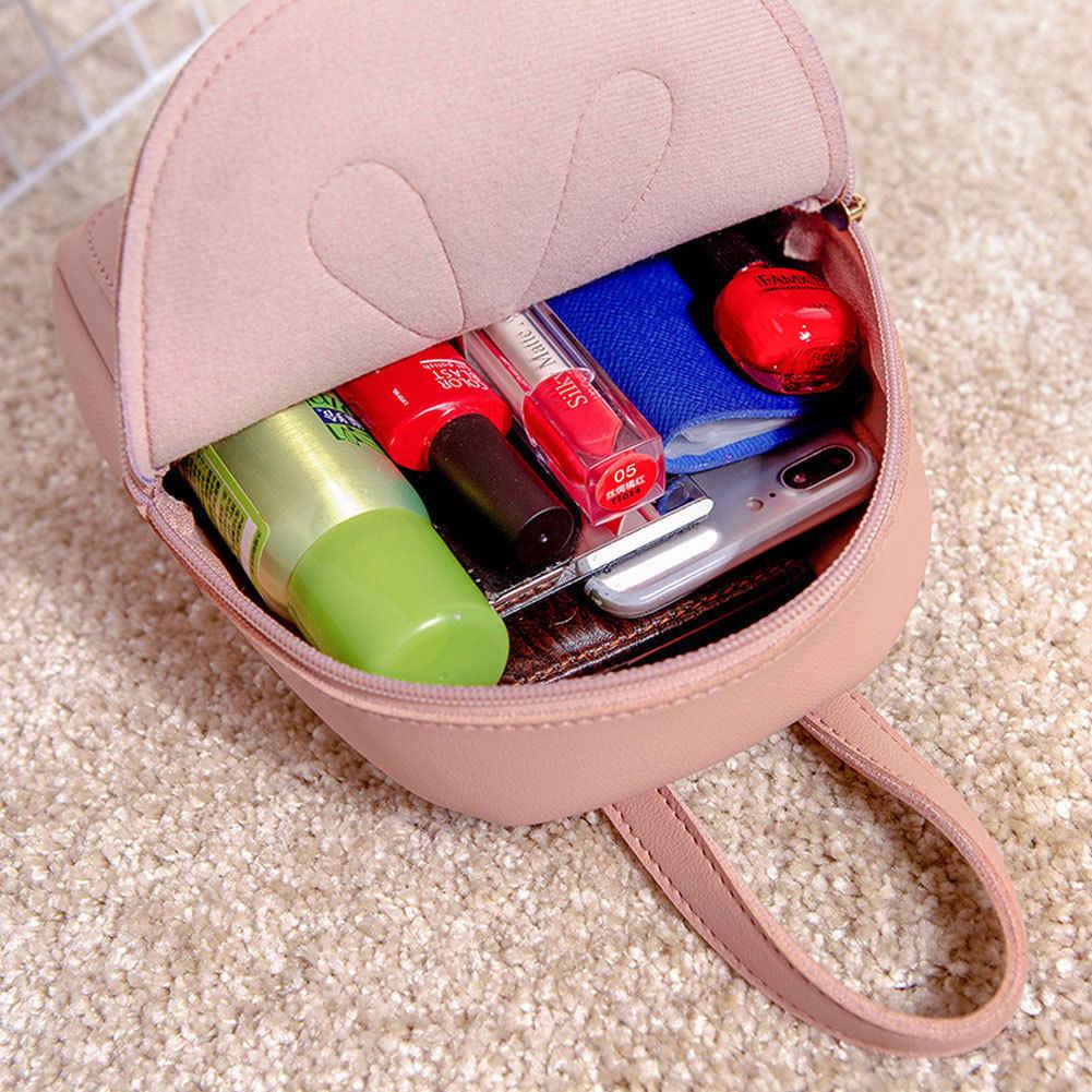 Mulheres Meninas Mini Faux Leather Backpack Mochila Bolsa Escola Bolsa de Viagem Mochila