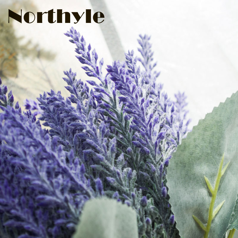 Northyle FS128658 Kunstmatige lavendel bloem bruidsboeket decoratie - Feestversiering en feestartikelen - Foto 4