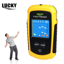 Lucky SONAR เรือตกปลา Fish Finder แบบพกพา Wireless SENSOR SONAR Fishfinder 100M HOT SALE จอ LCD Echo SOUNDER FFC1108-1(China)