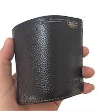 Genuine Leather Men Wallet Vintage Luxury Wallets Men Solid Bifold Short Purse Male Cowhide Leather Wallet with Card Holder