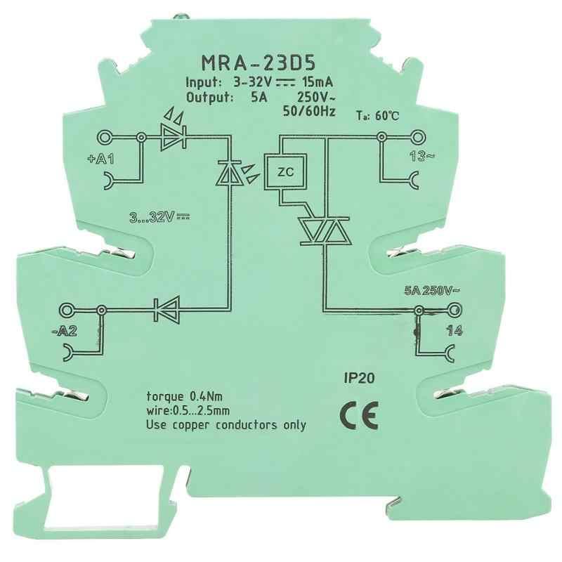 MRA-23D5 ультра-тонкий ПЛК реле усилитель мощности плата вход 3-32 В выход 250 в 5 AContactless rele estado solido абсолютно новый