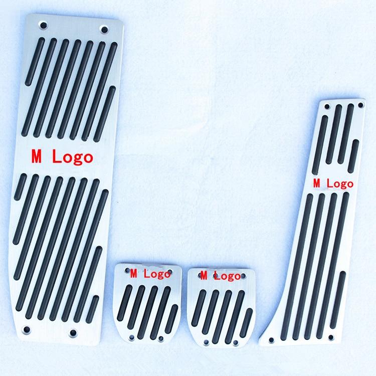Coche de pie de aluminio pedales de Trim cubierta con tornillos para BMW Serie 3 nueva serie 1 X1 M3 E30 e36 E39 E46 E87 E90 E91 E92 E93
