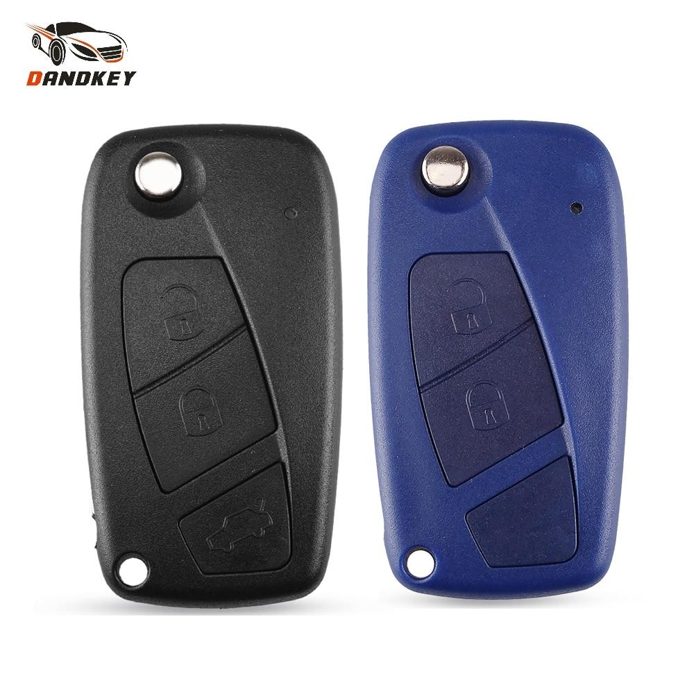 Dandkey 15PCS 2 3 Button SIP22 Blade Flip Car Remote Case Key Shell For Fiat Punto