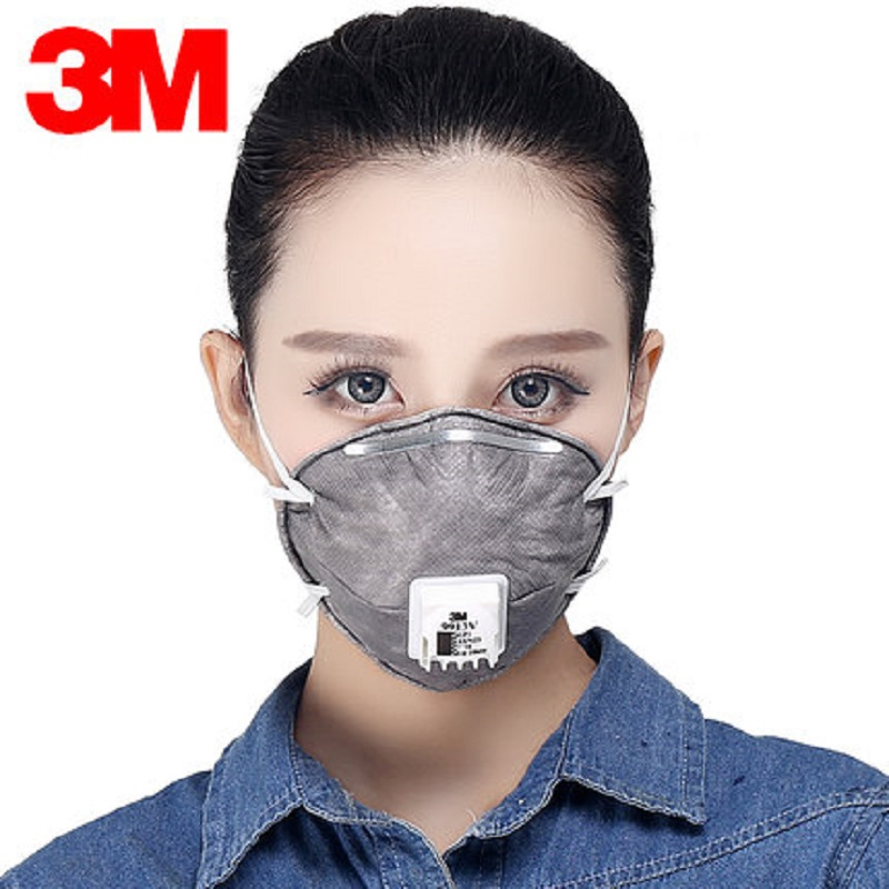 3M N95 9913V Dust Mask Folding Anti-PM 2.5 Activated Carbon Non-woven Fabric Filter Coldflow Breathing Valve Mask Adult3M N95 9913V Dust Mask Folding Anti-PM 2.5 Activated Carbon Non-woven Fabric Filter Coldflow Breathing Valve Mask Adult