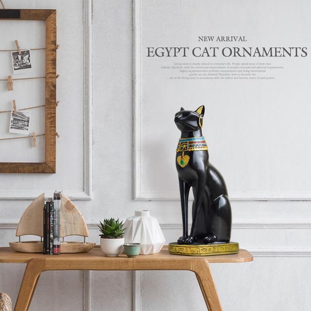Egyptian Cat resin craft vintage home decor Modern Vintage Baster goddess god pharaoh figurine statue for table ornaments Gift 3