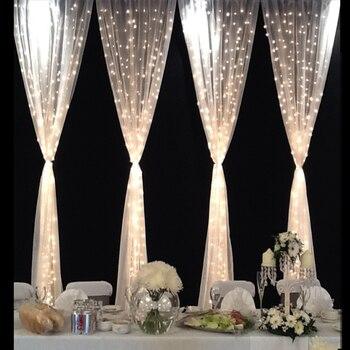 3x3 m 6x3 m LED Icicle ม่านไฟ LED STRING Fairy Holiday ไฟ Garlands สำหรับบ้านสวนตกแต่งงานแต่งงาน