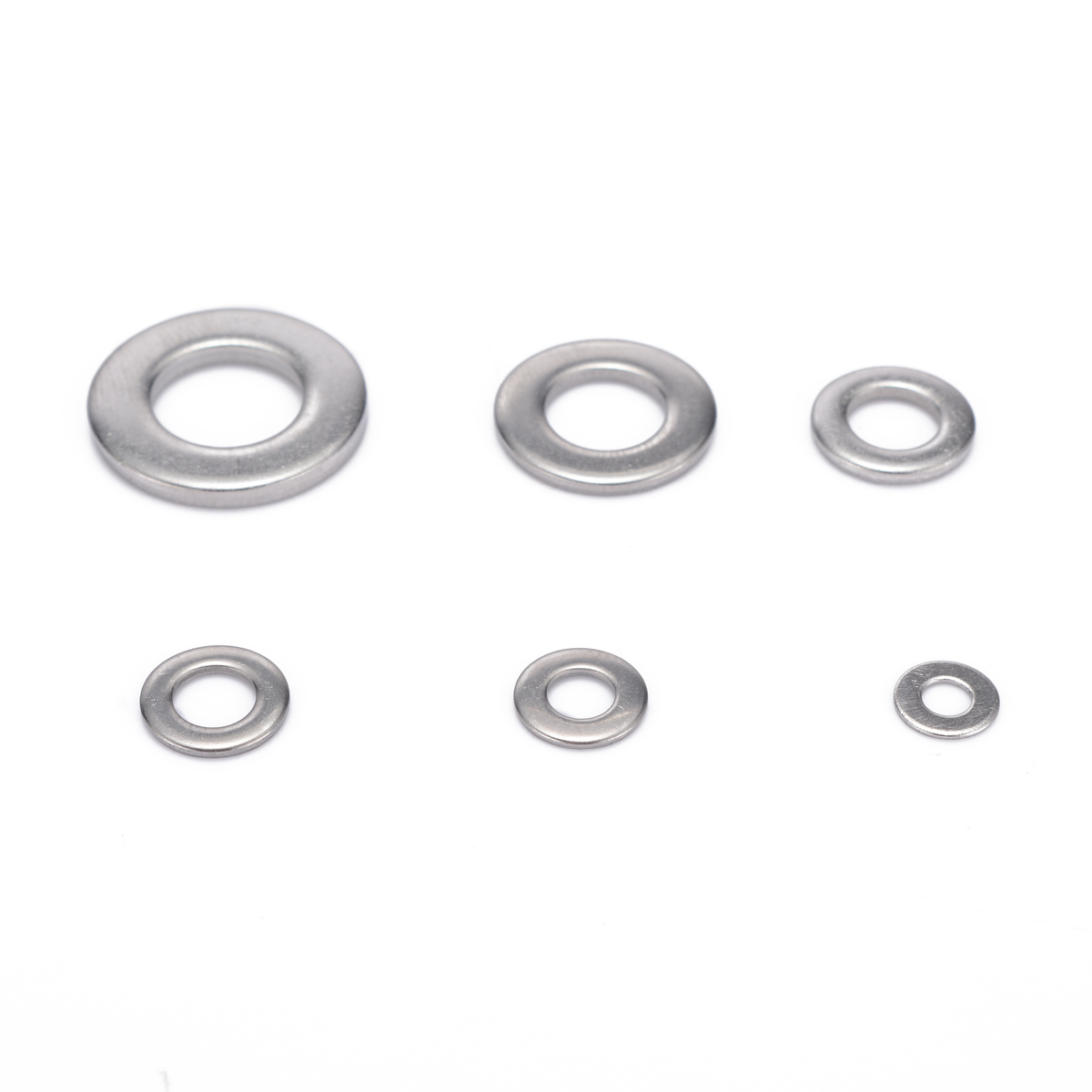 105pcs 304 Silver Stainless Steel Washers M3 M4 M5 M6 M8 M10 Metric Flat Washer Kit For Electronic Instruments in Washers from Home Improvement