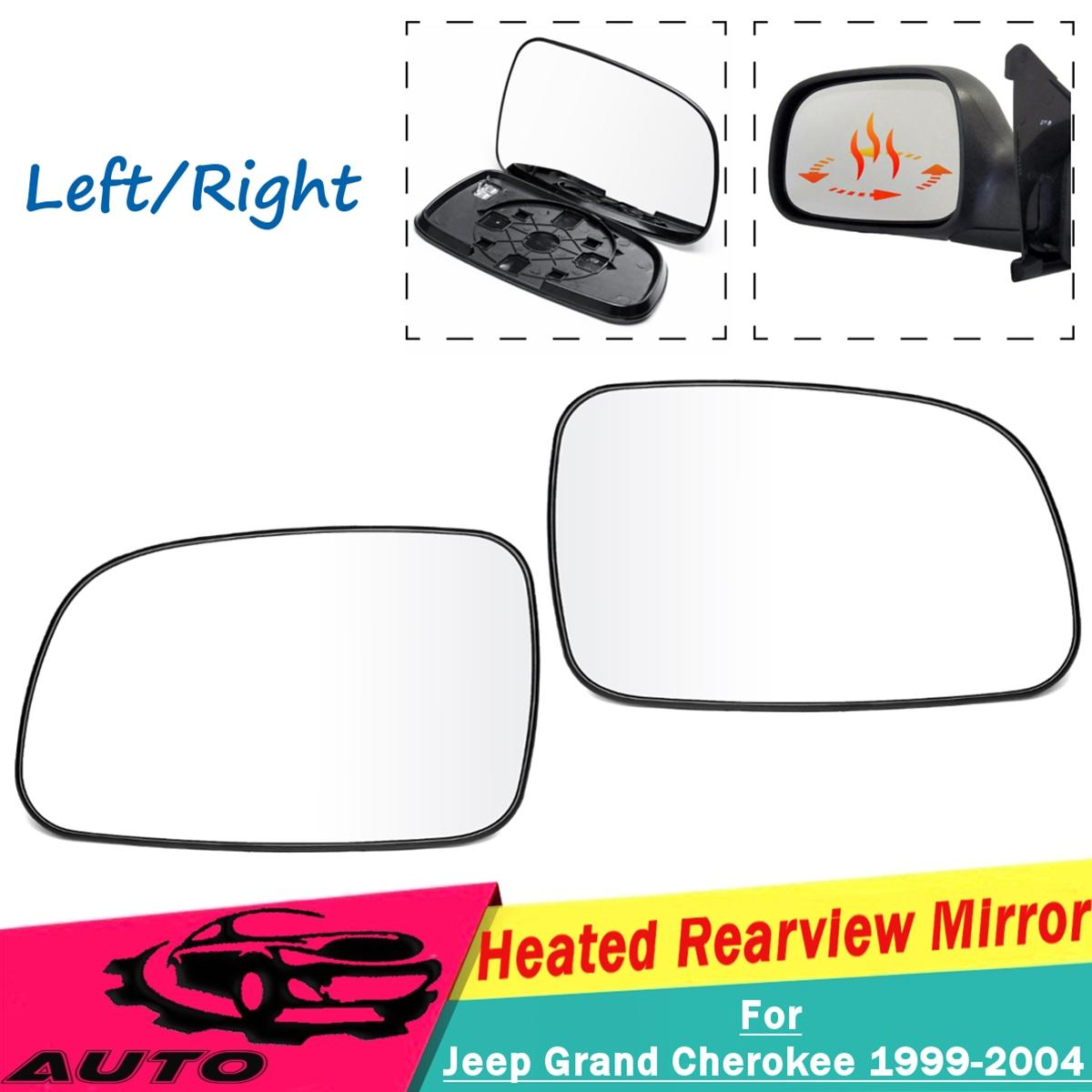 Left Passenger Near Side Heated Wing Door Mirror Glass for FORD FOCUS 1998–2004