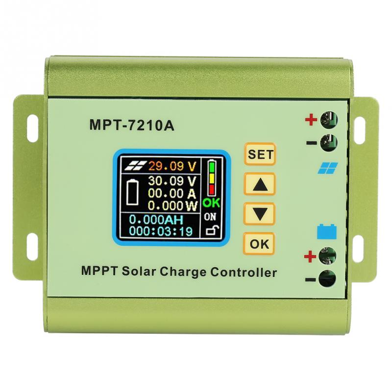 MPT 7210A Aluminum Alloy LCD MPPT Solar Charge Controller DC DC MPPT Solar Controller for Lithium