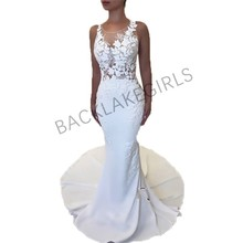 Elegant Appliqued Wedding Dresses Mermaid Style Sleeveless