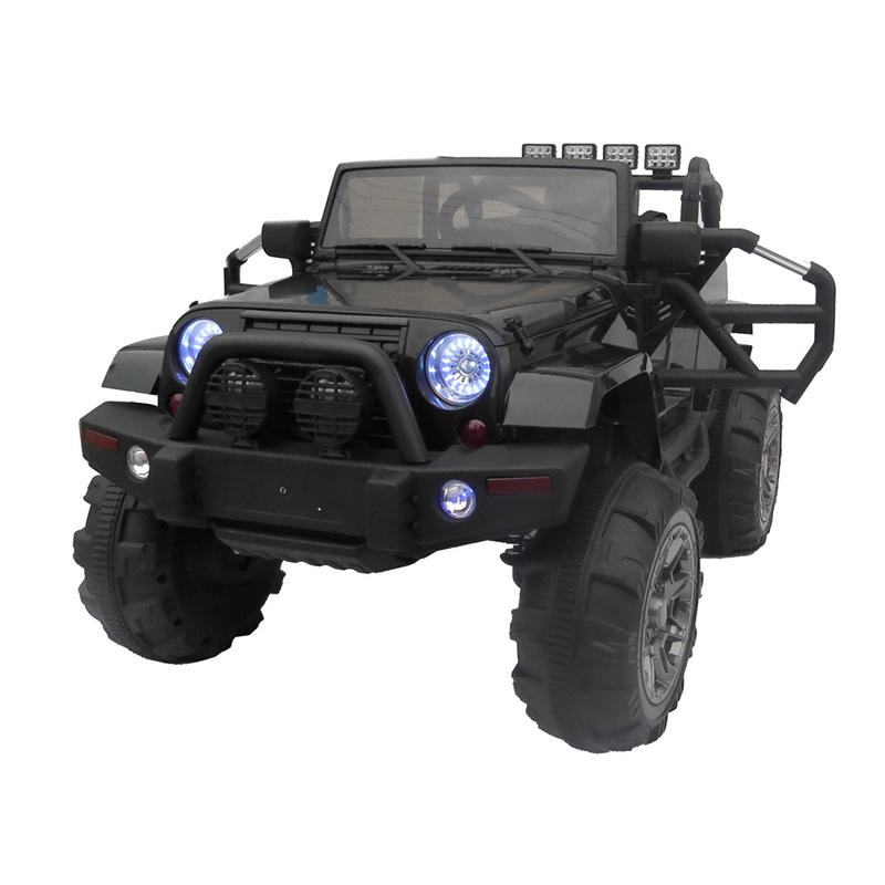 12 V enfants monter sur voiture SUV MP3 RC télécommande LED lumières noir enfants Suspension fonctionnelle tout-terrain véhicule divertissement