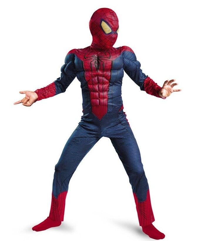 Spider-Man Costume Boys Children Book Week Halloween Superhero Muscle Jumpsuit