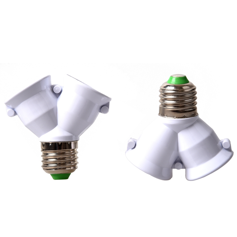 2x E27 Adapter E27 to Dual Vis Bayonet Converter in Lamp Holder Converters from Lights Lighting